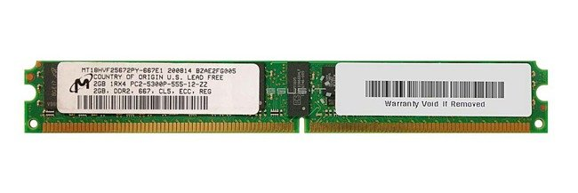 Memory RAM 1x 2GB Micron ECC REGISTERED DDR2  667MHz PC2-5300 RDIMM | MT18HVF25672PY-667E1
