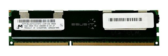 Memory RAM 1x 4GB Micron ECC REGISTERED DDR3  1333MHz PC3-10600 RDIMM | MT36JSZF51272PZ-1G4
